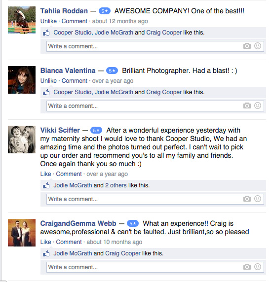 Perth Photographers Customer Review | Cooper Studio