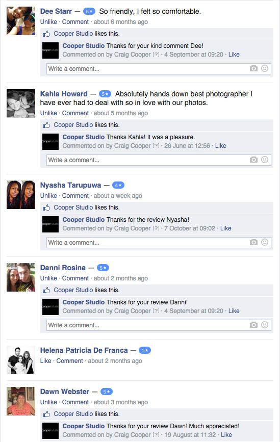 Cooper Studio FB Reviews